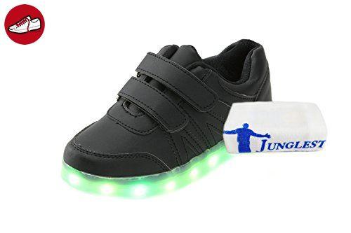 JUNGLEST c3 EU 35,[+Kleines Handtuch] mit Weise Korean Leucht Kinderschuhe Lichter Klettverschluss Blinken für Mode-Schuhe, Weibliche LED-Licht-emittierende