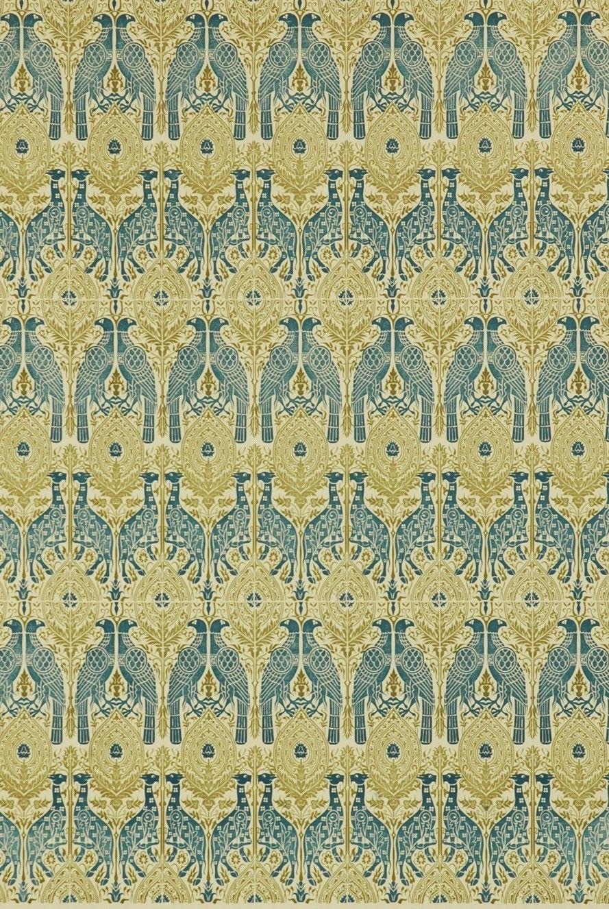 Italian Block Print Blue Hawks