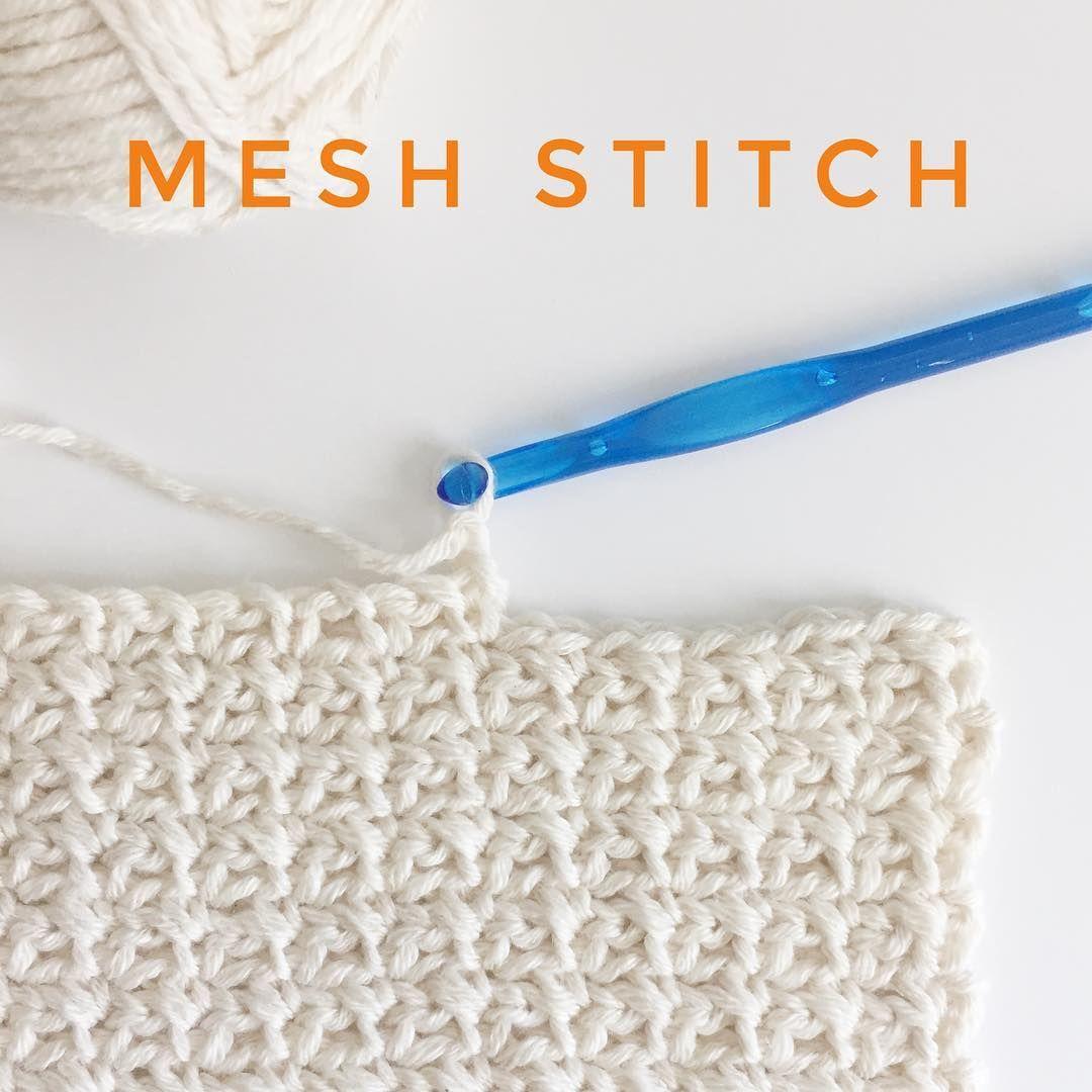 Crochet Mesh Stitch - Daisy Farm Crafts Instagram | aCrochet ...
