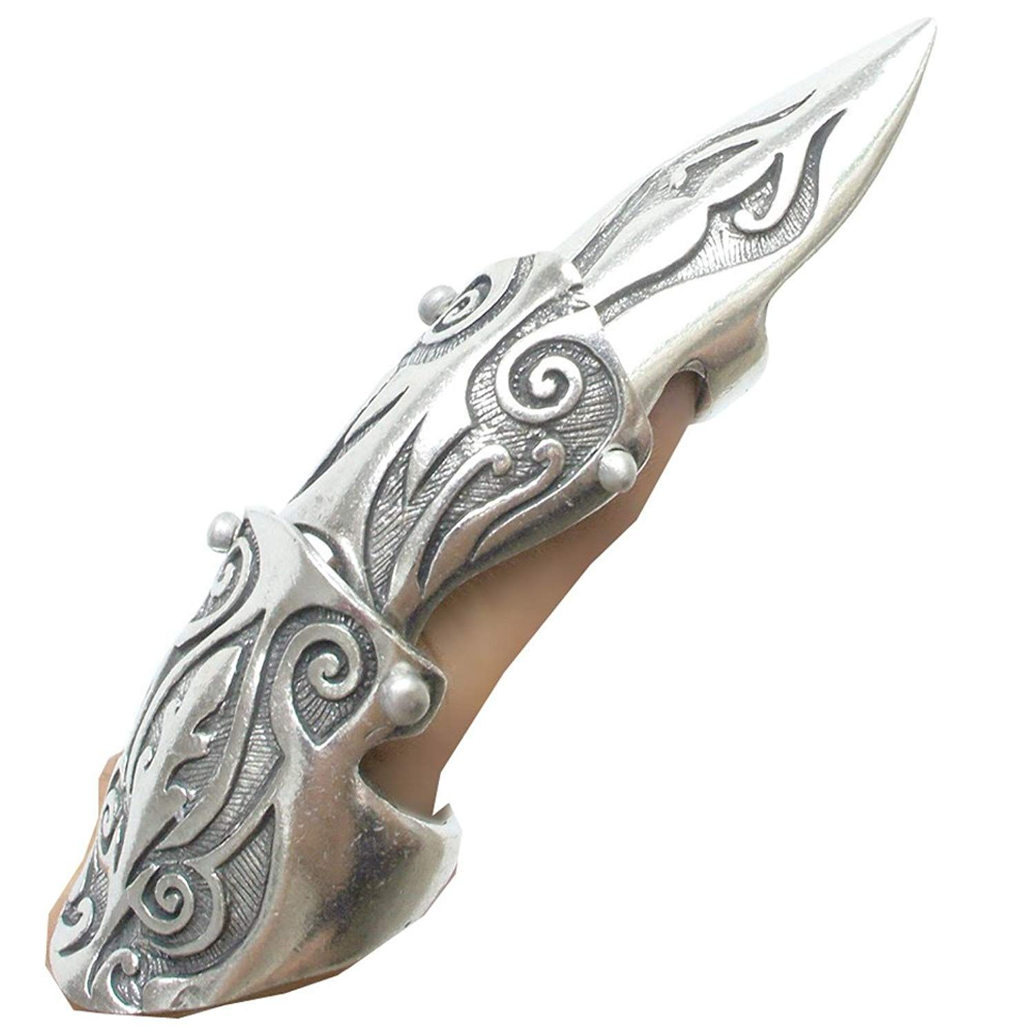 OhDeal4U Full Finger Armor Ring Silver Pewter Metal Punk Gothic Various Styles