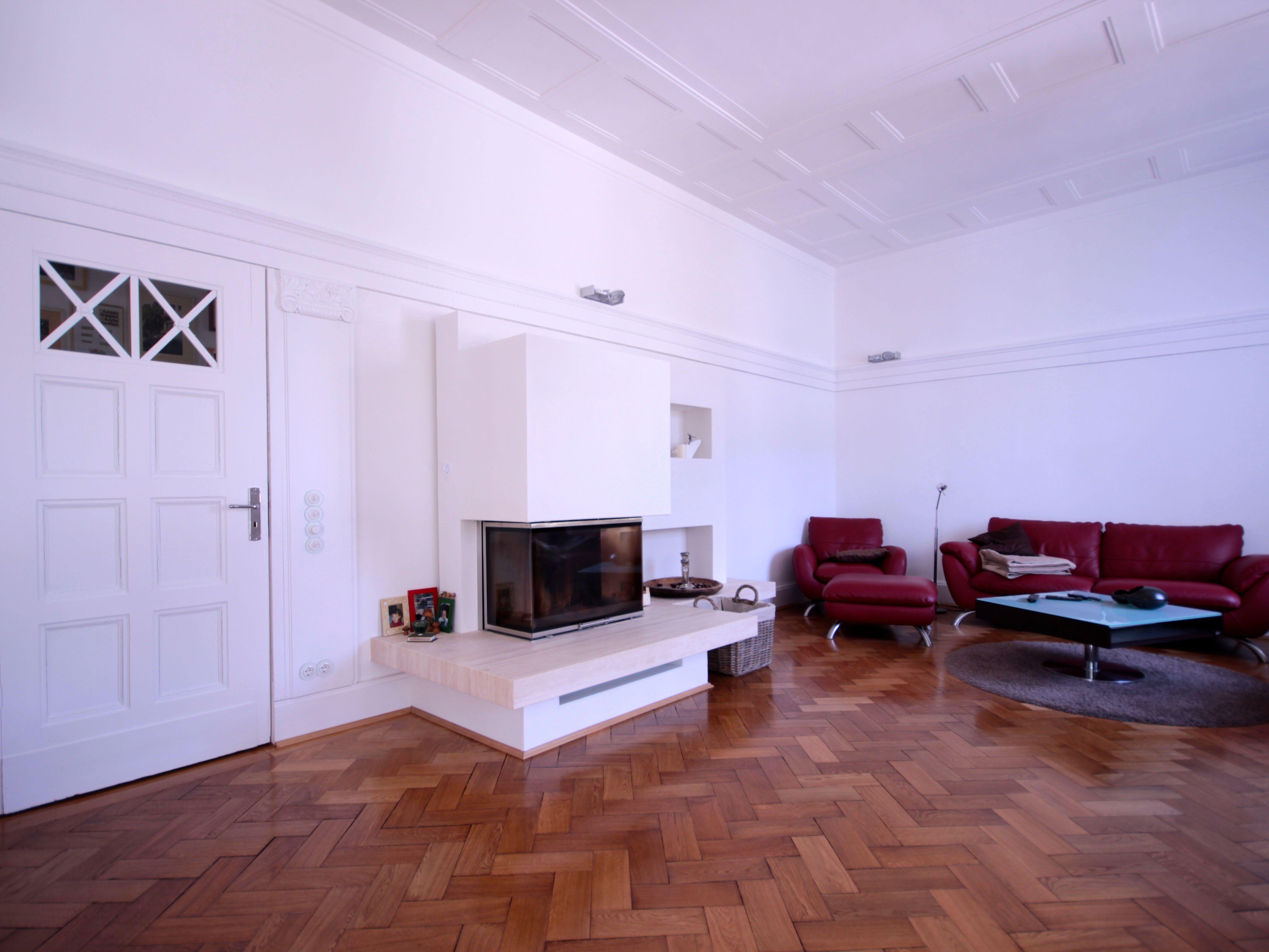 Eichen stabparkett in fischgr t muster im wohnzimmer for Muster wohnzimmer