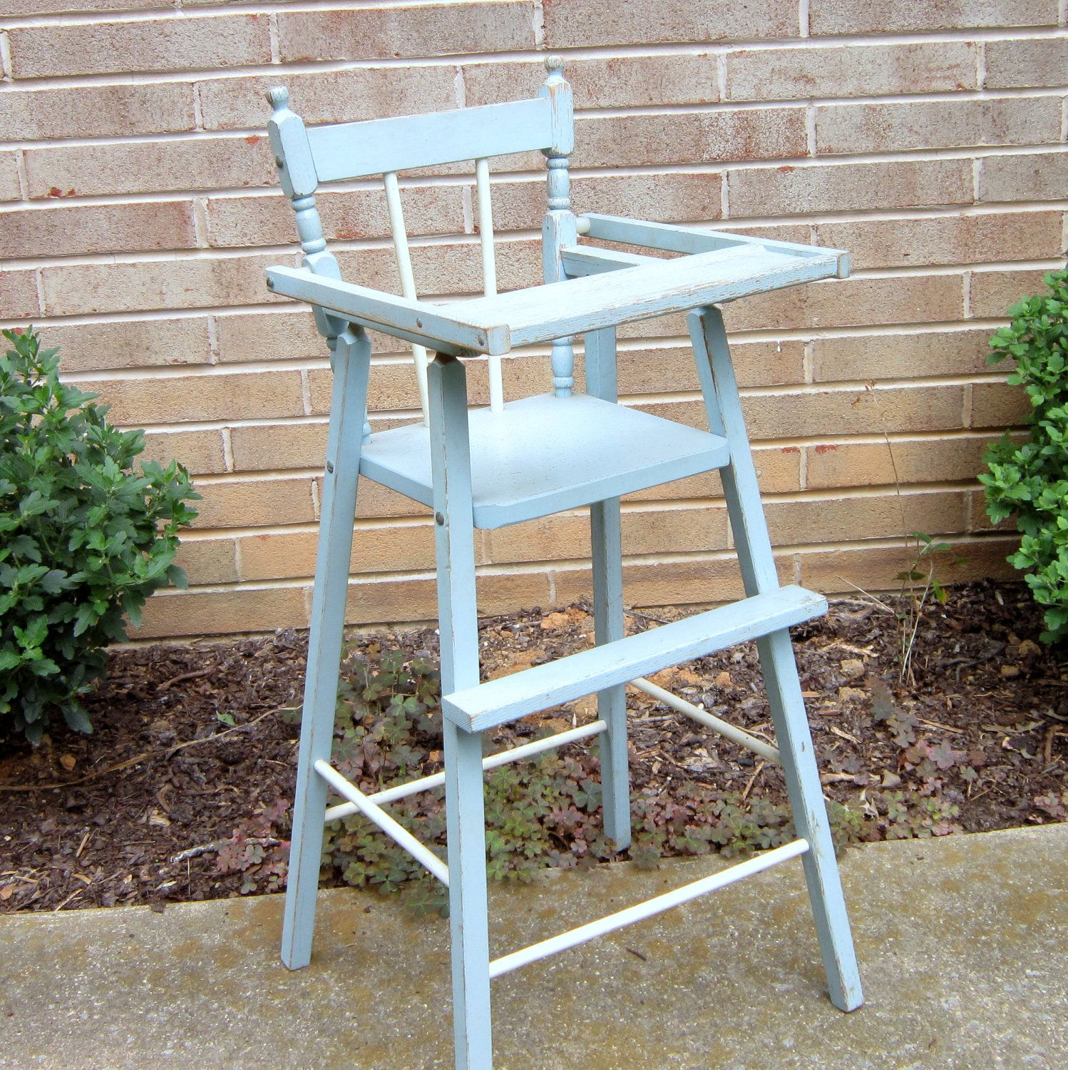 Doll High Chair w//Heart Solid Oak Amish Handmade Handcrafted Kids Toy Golden Oak
