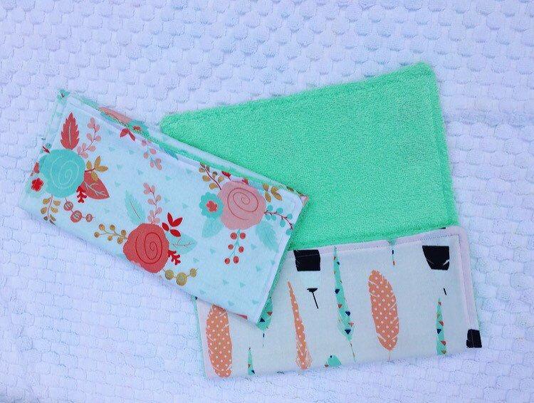 Baby Burp Cloths, Baby Burp Cloth Set, Set of Two, Girl Burp Cloths by ShopTimberLane on Etsy https://www.etsy.com/listing/280643666/baby-burp-cloths-baby-burp-cloth-set-set
