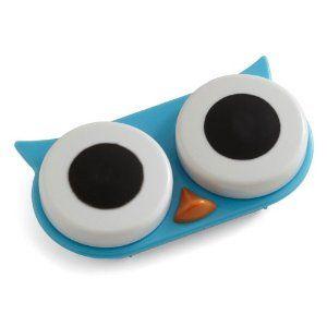 Amazon.com: Owl Contact Lens Case Blue: Health & Personal Care