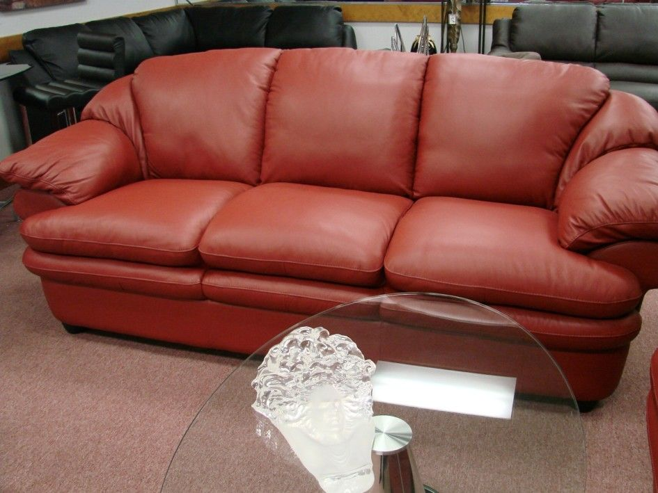 Furniture Astounding Deluxe Puffy Leather Sofa Designs 2015 Ideas With Colour Red Leather Sofa And Short Sleeves Contemporary Elegant Leather Sofas For Your L