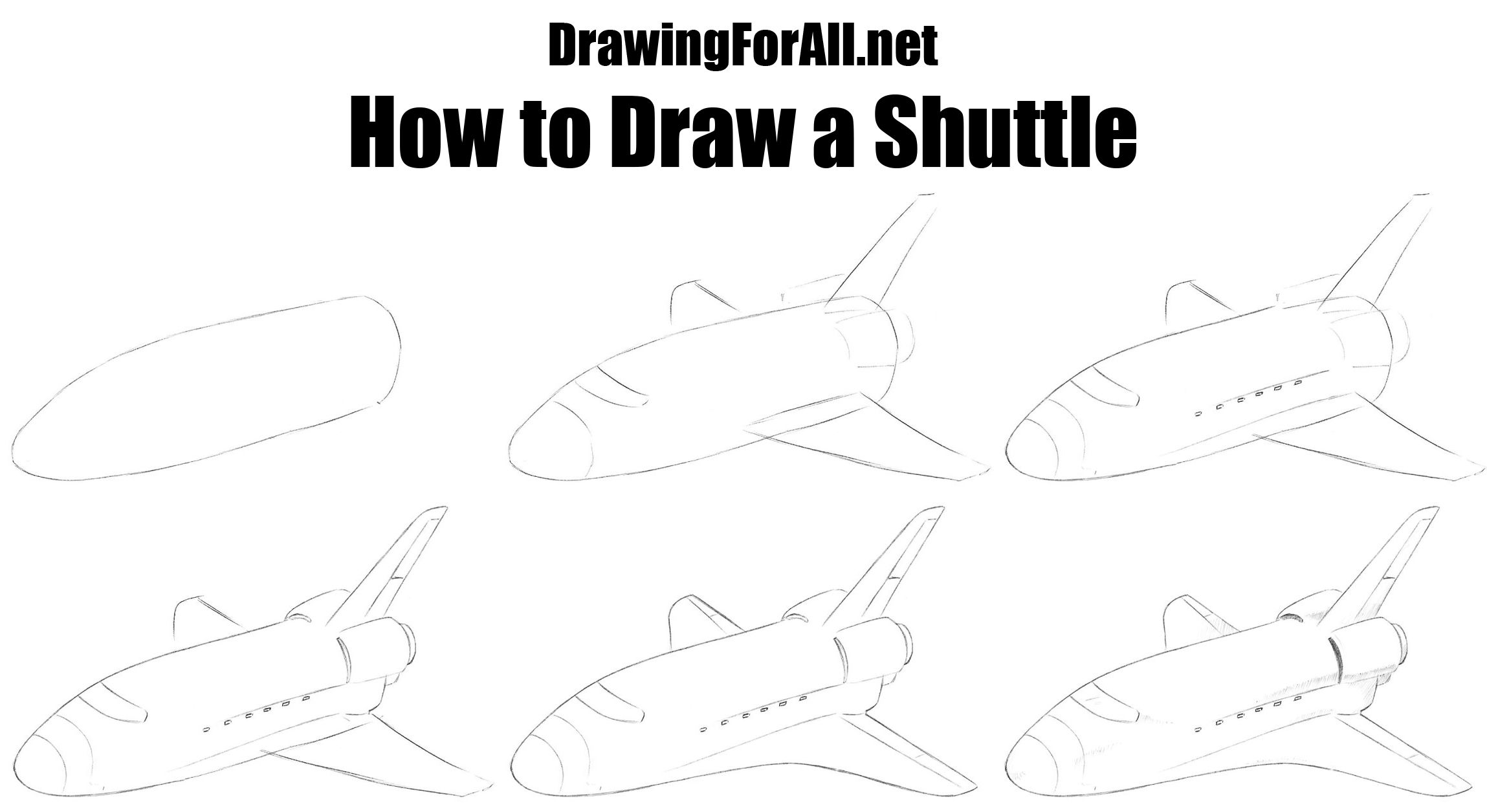 How To Draw A Shuttle In