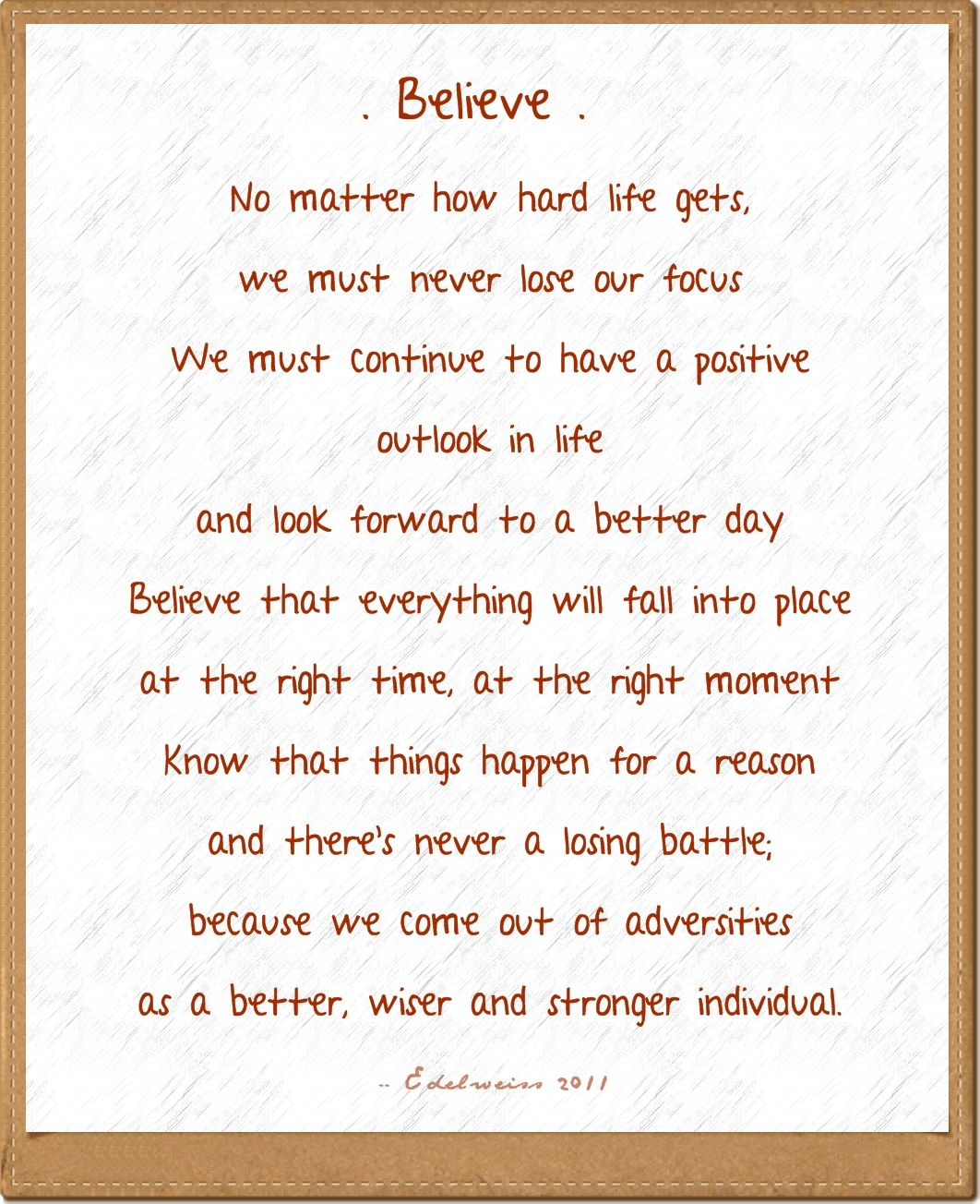 Quotes And Poems: Believe Quotes, Life