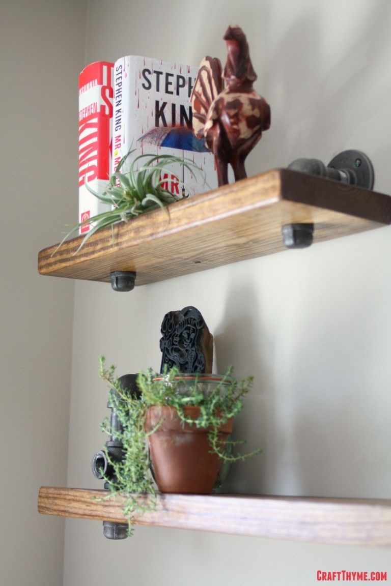 Style diy pipe shelf tutorial with directions and where to buy cheap