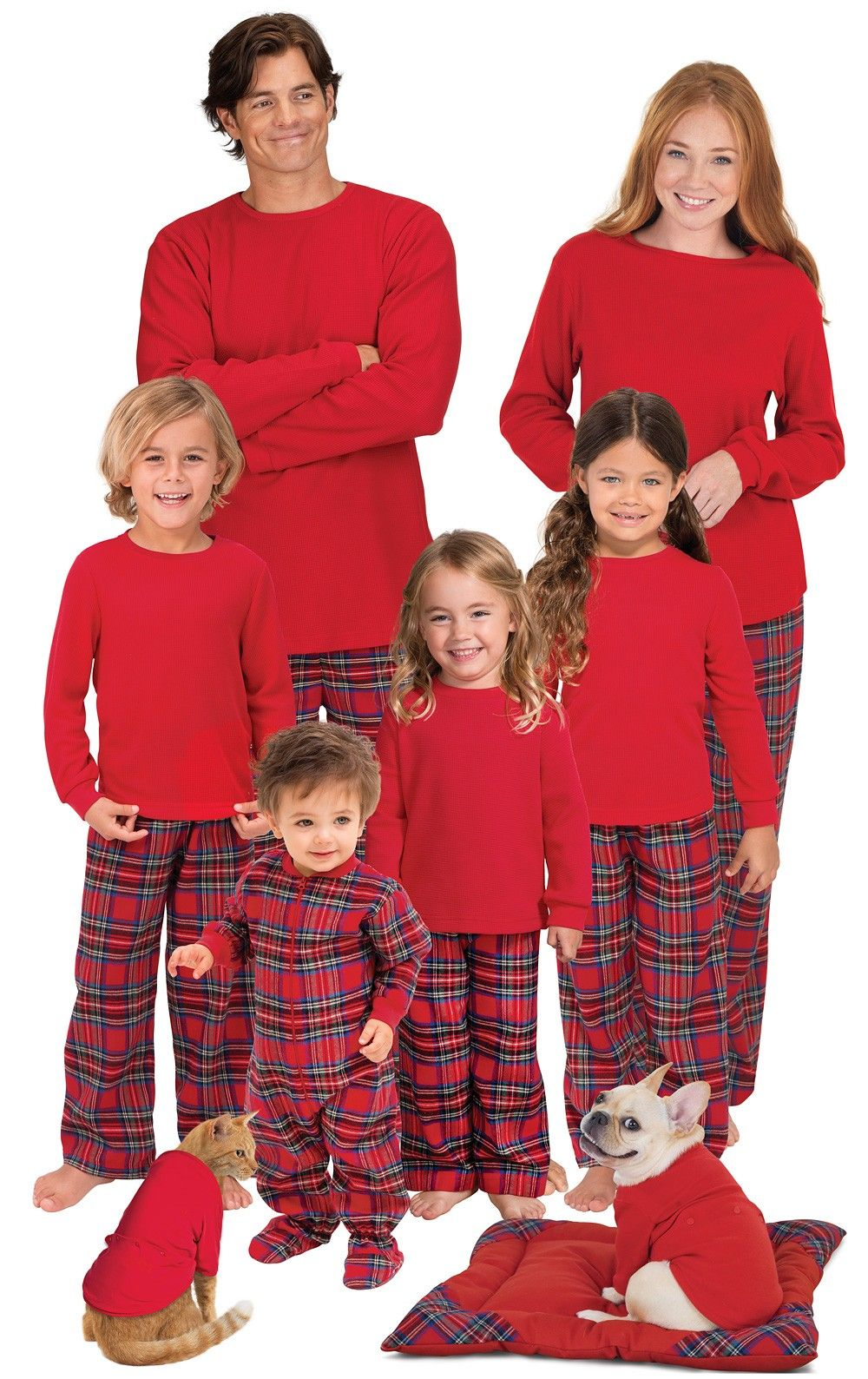 Stewart Plaid Flannel Matching Family Pajamas Matching