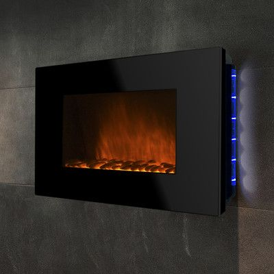 Golden Vantage 36 Wall Mount Piano Black Electric Fireplace