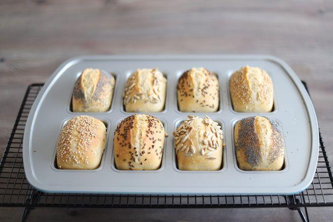 Ubernacht Brotchen In Der Mini Kuchen Form Von Pampered Chef Brot Backen Rezept Einfach Mini Kuchen Kochen Und Backen Rezepte