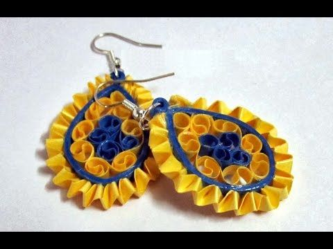 Quilling Earrings Designs Latest Model Paper Tutorial You
