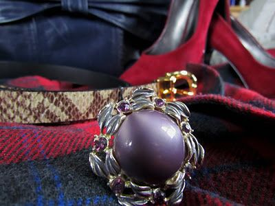 Combining vintage plaids with reds, purples and blues  http://thrifttrick.blogspot.com/2011/12/its-plaid-world.html