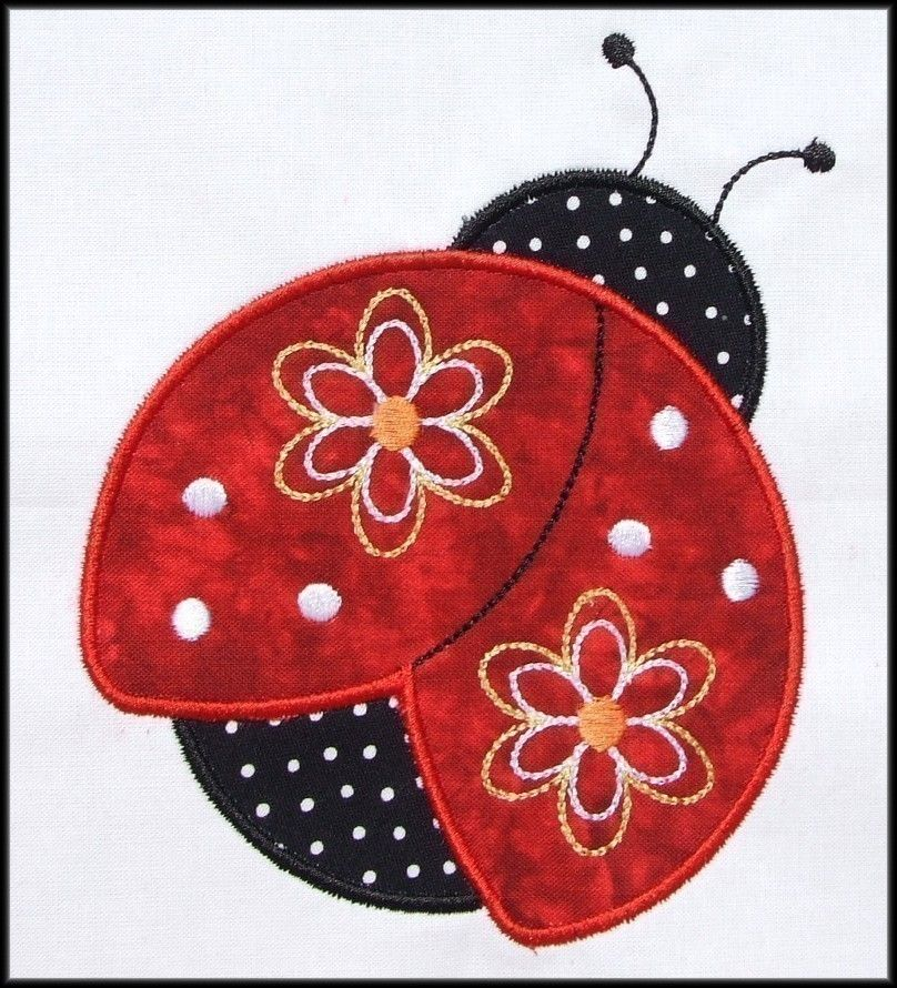 INSTANT DOWNLOAD Pretty Ladybug Applique and Fill designs ...