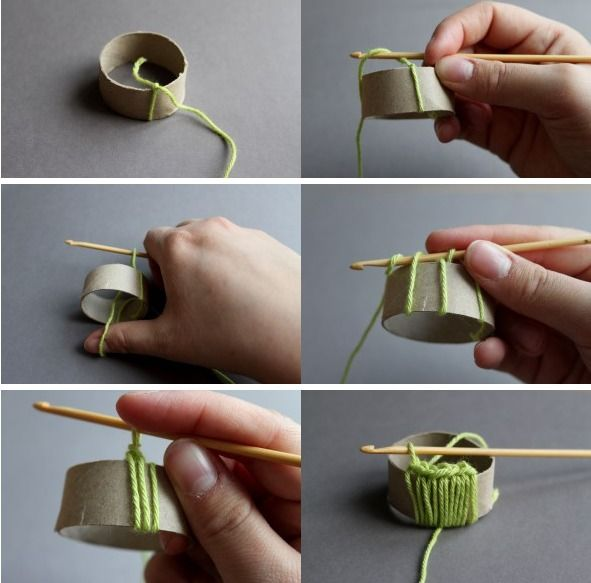 Tutorial servilletero de crochet con rollo papel higienico - Servilleteros de ganchillo ...
