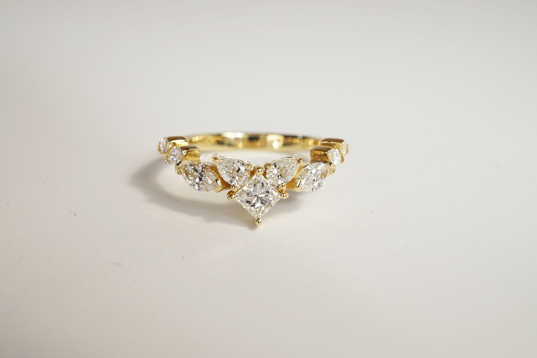 Diamond cluster fantasy ring custom made for lovely diane