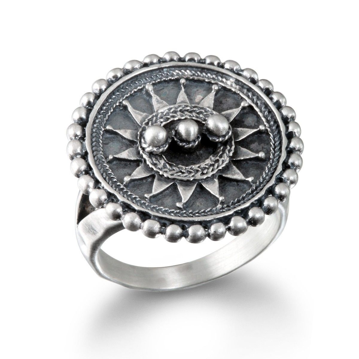 a59c634e185 Satya Jewelry Silver Mandala Ring - 8 in 2019