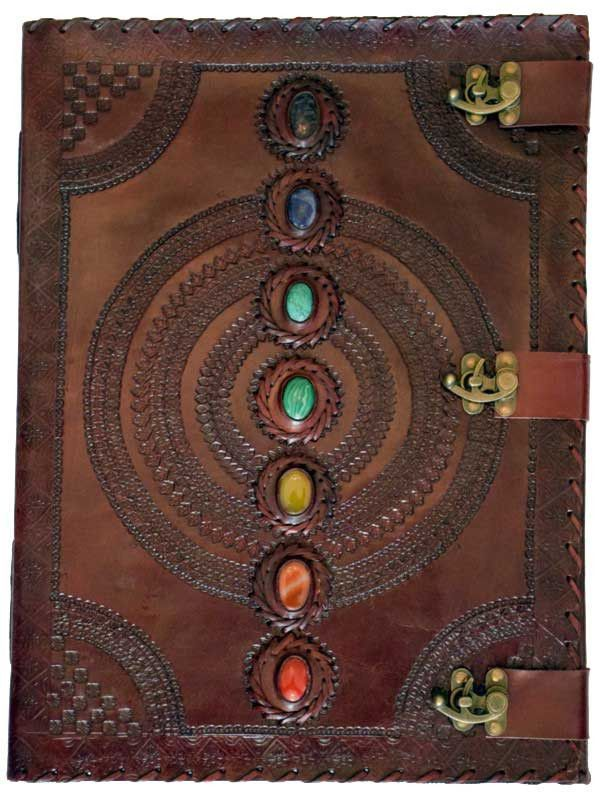 7 Stone Leather w/3 Latches Blank Journal
