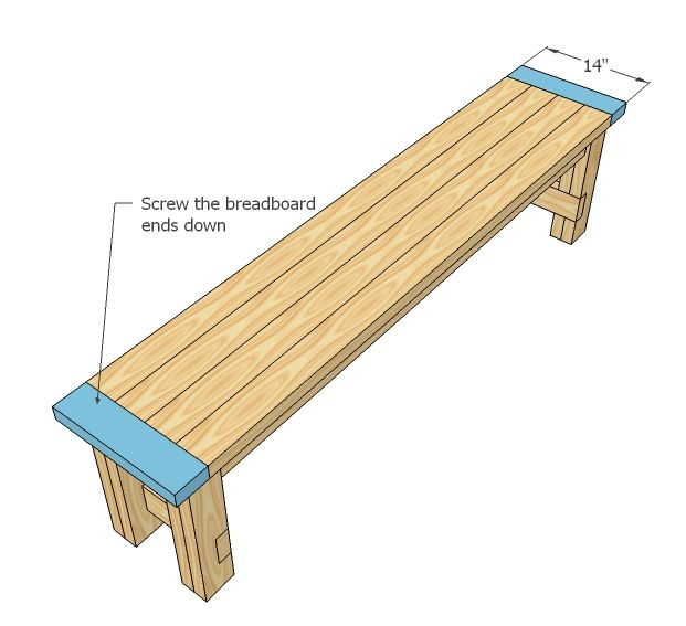 Easy to build farmhouse bench free and easy diy project for 2x4 stool plans