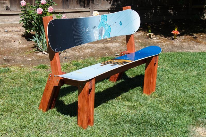 Custom Ski And Snowboard Bench Ski House Decor Skateboard Furniture Snowboard