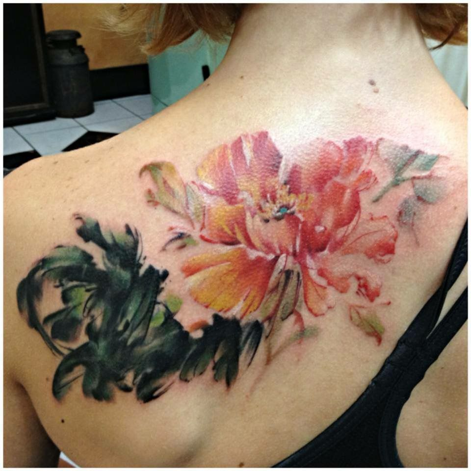 Peony Watercolor Flower Tattoos: Pin By Jessica Farber On Ombre Hair Dye