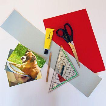Materialien für den Basteltipp Wackelbild