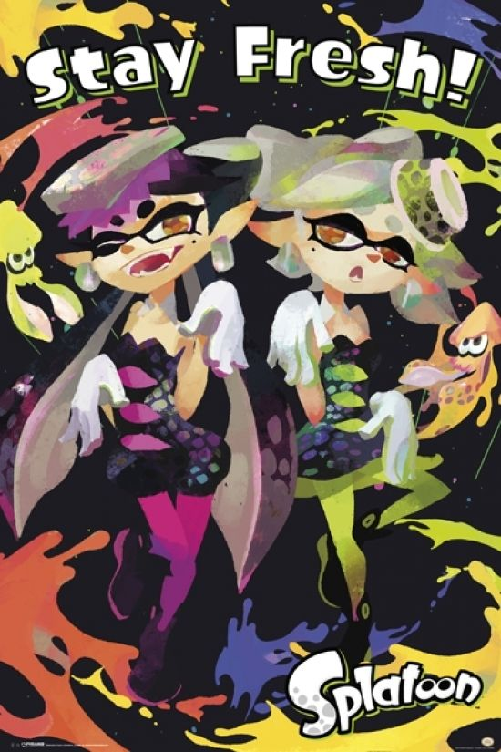 Splatoon - Stay Fresh Poster Print (24 X 36)