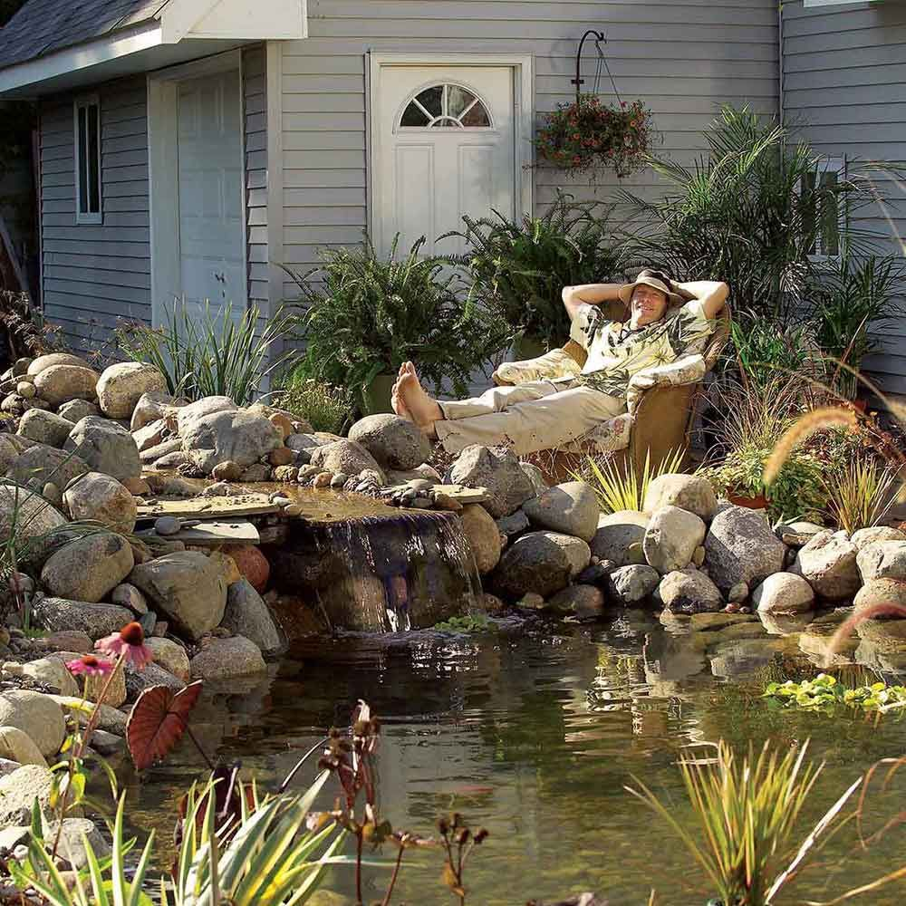 How to Build a Water Garden With Waterfall | Ponds ...