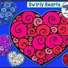 Here's a set of free swirly hearts graphics to use in your projects and printables.   Great for classroom decor, signs, centers or printables.  The...