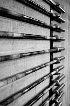 Barbell rack setup