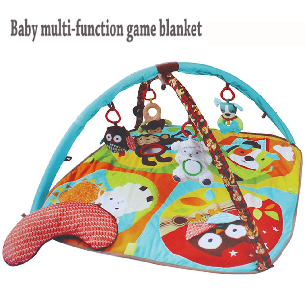 1 year baby toys images  Educational Baby rattle distorting mirror Teether Toy Play Mat Plush