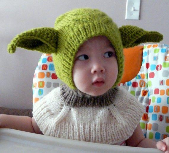Yoda star wars coverall hat   Babies   Pinterest   Gorros, Tejido y ...