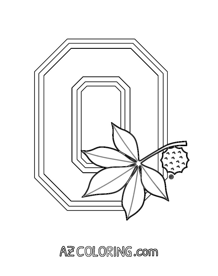 Ohio State Buckeyes Coloring Page Coloring Home Ohio State Decals Buckeye Crafts Ohio State Crafts