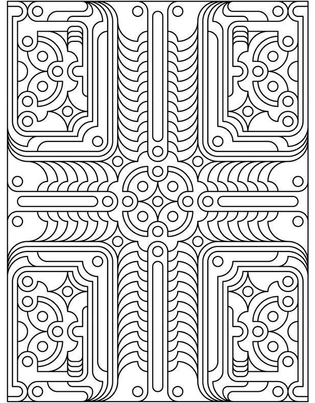 Dover design Geo Tech | Coloring Pages | Pinterest | Mandelas ...