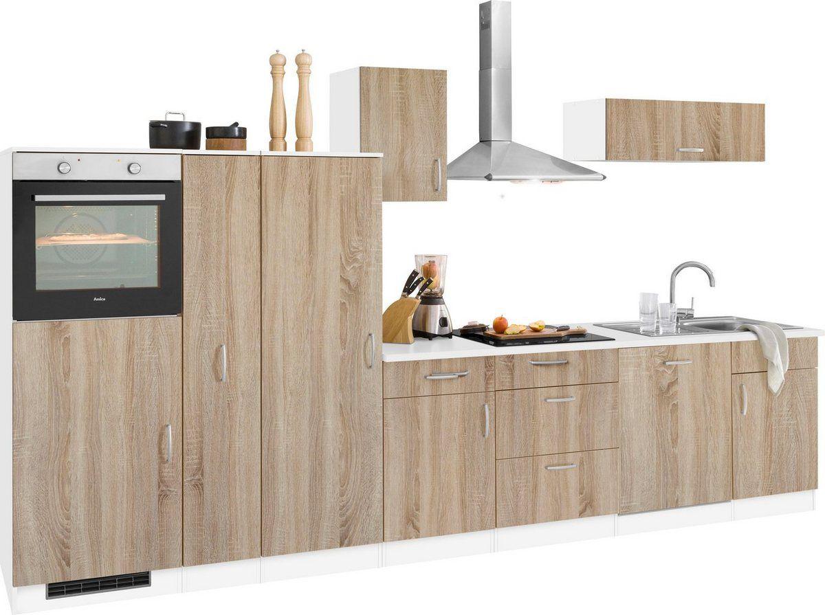Küchenzeile »Brilon«, mit E-Geräten, Breite 15 cm  Küchenzeilen