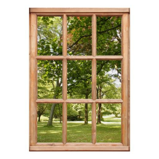 Sun Through The Trees View From A Window Poster Zazzle Com Fake Window Window Poster Window Mural