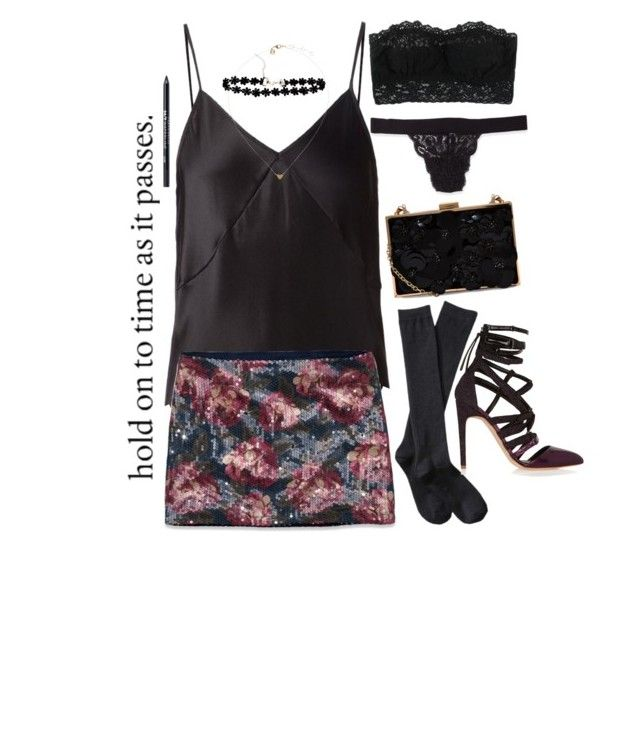 """""""Outfit 157."""" by lillihusse ❤ liked on Polyvore featuring Fleur du Mal, Abercrombie & Fitch, Xhilaration, Antonio Berardi, Cosabella, Hanky Panky and Urban Decay"""