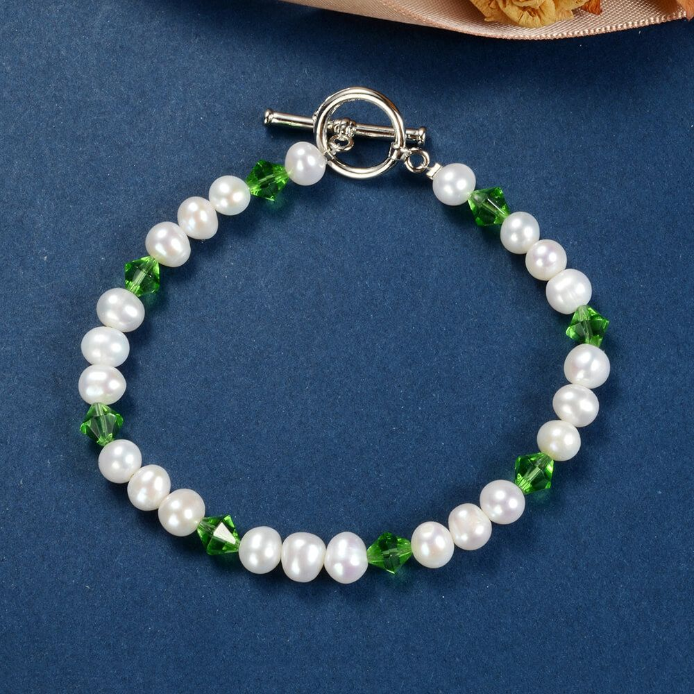 Freshwater Pearls and Sterling Silver Bracelet Triple Strand Bracelet Ideal Valentine/'s day gift