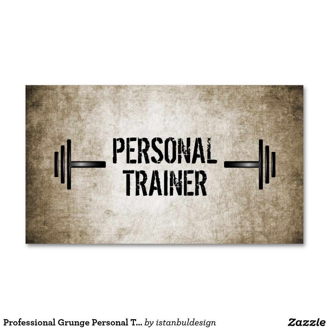 Grunge Personal Trainer Business Card | Pinterest | Personal trainer ...