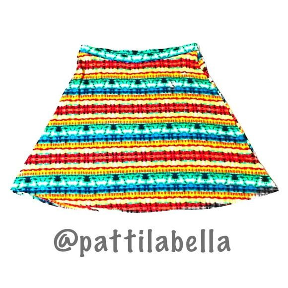Tie-Dye Skater Skirt NWOT size medium misses - true to size stretch jersey material Gibson Skirts Circle & Skater