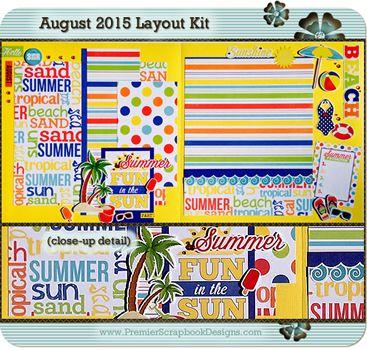 Previous Kits Monthly Kit Club Premier Scrapbook Designs
