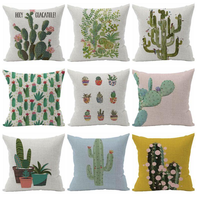 gr ne pflanze kissenbezug kaktus dekorative kissen fall. Black Bedroom Furniture Sets. Home Design Ideas