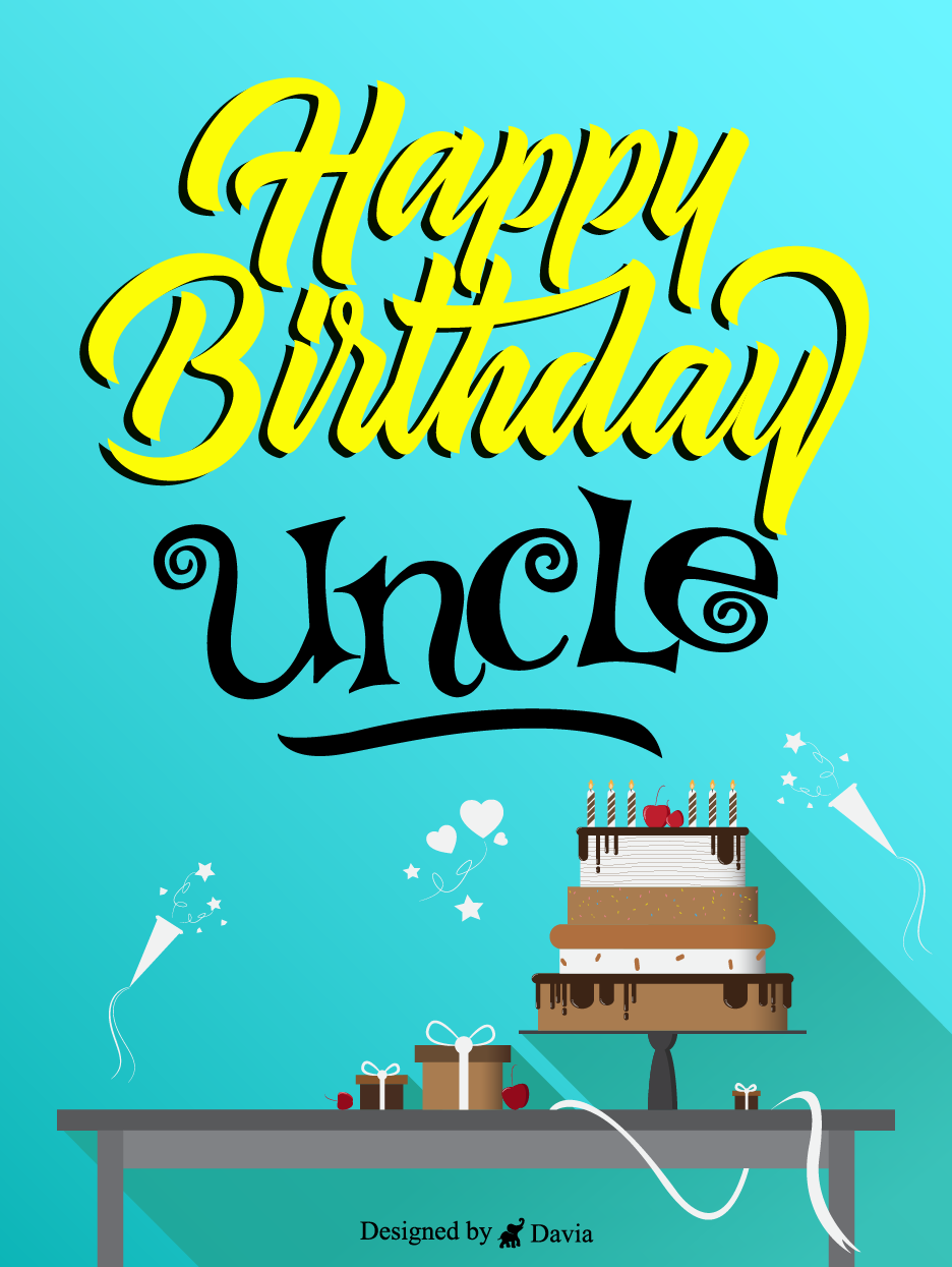 Blue Cake Birthday For Uncle Cards Birthday Greeting Cards By Davia In 2021 Birthday Greeting Cards Cards Birthday Cards