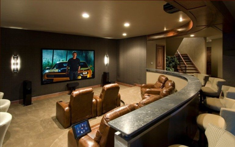 15 awesome basement home theater cinema room ideas basement rh pinterest co uk Small Home Theater Rooms Basement Home Theater Design