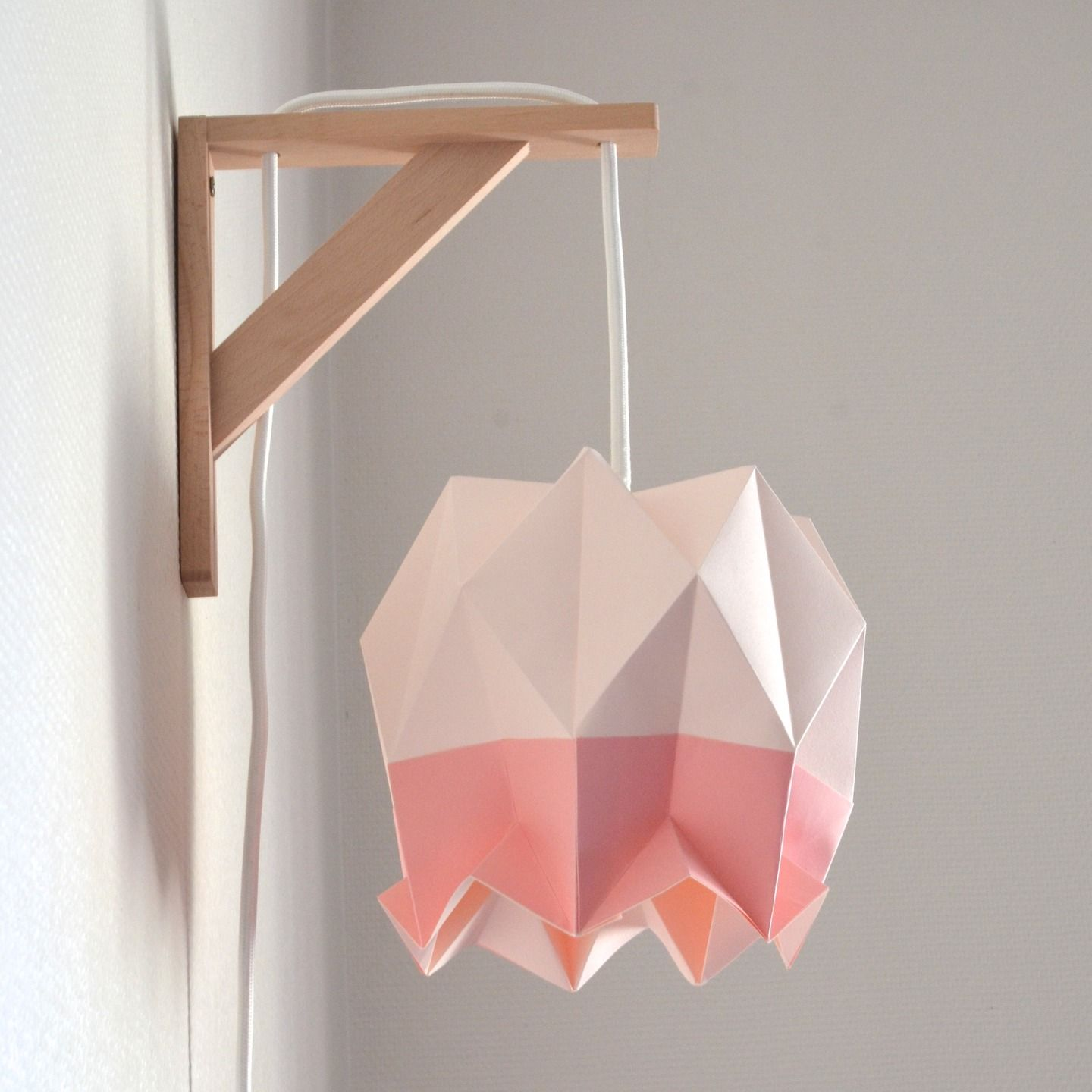 Applique suspension lotus d 39 inspiration scandinave for Suspension luminaire papier