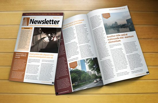 Free Indesign Newsletter Template  Graphics