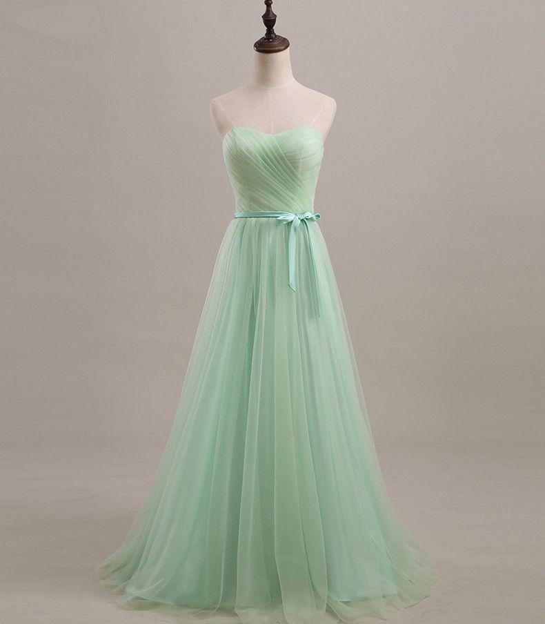 Bridesmaid Dress Mint Customizable Lilac Light Green Mint ...