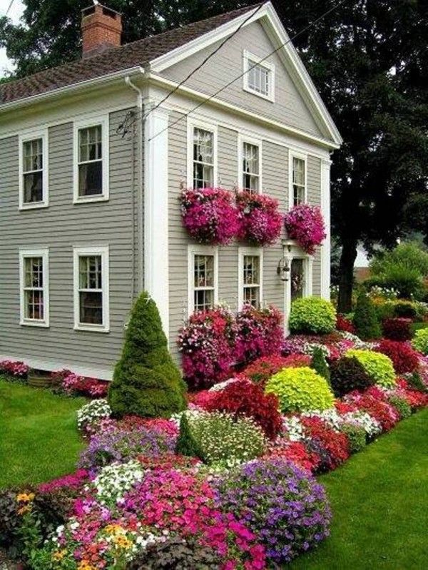 Front Yard Landscape Design I Am Going To Try Accomplish This In My Back All Along Privacy Fe