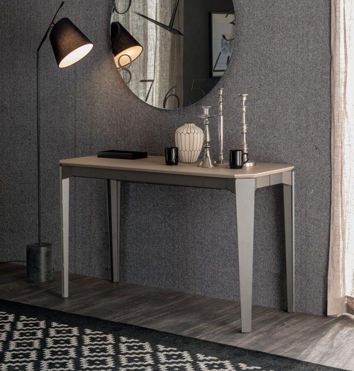 Consola con bancada en acero y tapa de madera | Mueble contemporaneo ...