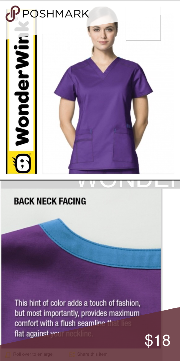 056a529237a 😉WONDER WINK V NEVK 6108😉 😉The WonderWink 6108 WonderFLEX Verity scrub  top offers